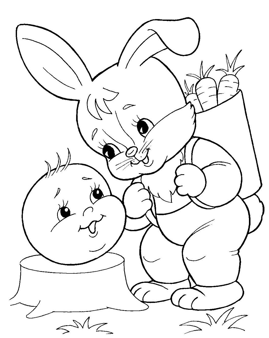 Раскраска колобок для малышей - 10